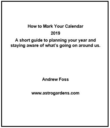 How to mark Your Calendar